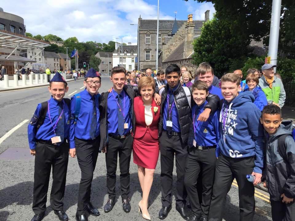 Greenbank's Boys' Brigade meet the First Minister