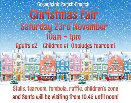 GREENBANK CHRISTMAS FAIR